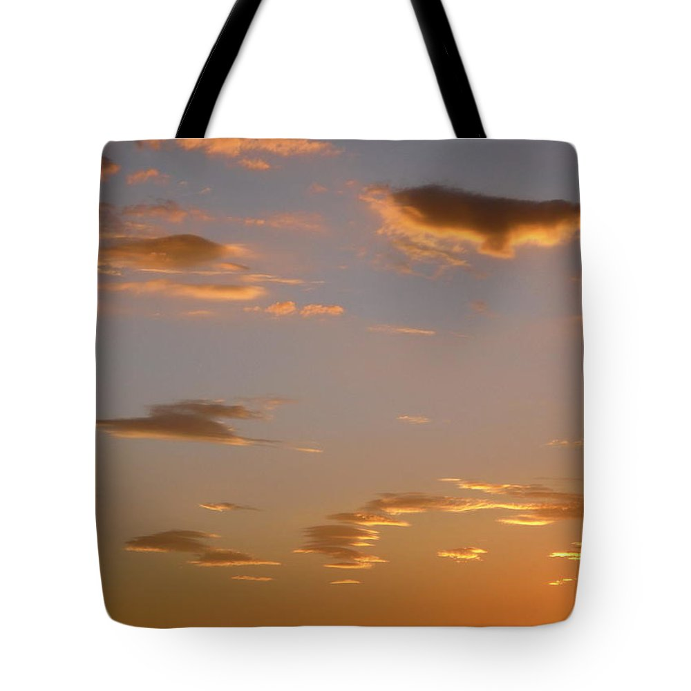 Clouds Tote Bag featuring the photograph Golden Clouds by Stephanie Moore
