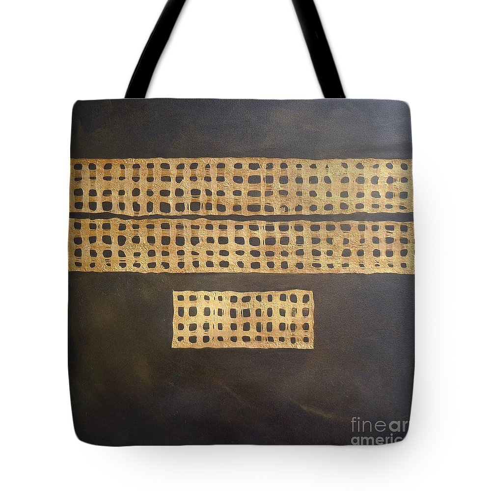 Eco-friendly Tote Bag featuring the painting Golden Coin Number 3 by Marlene Burns
