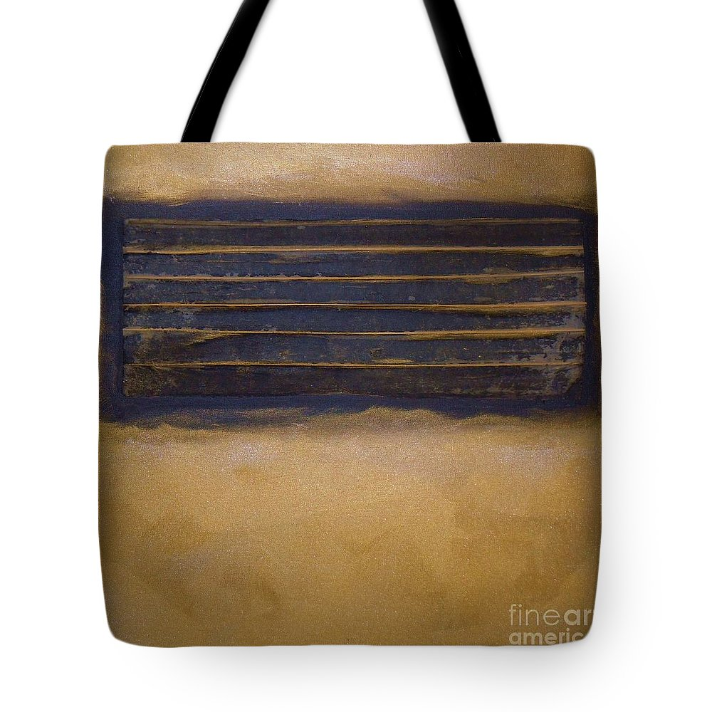 Sets Tote Bag featuring the mixed media Golden Coin Number Two by Marlene Burns