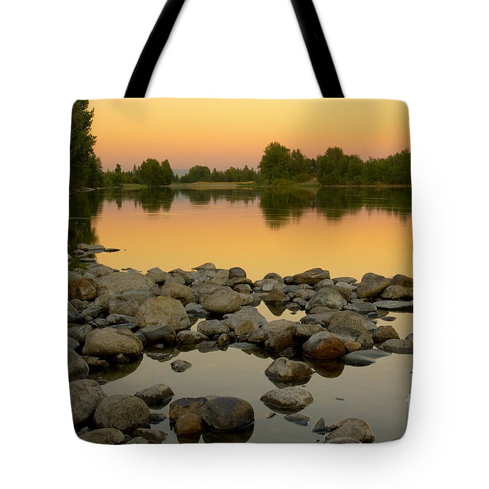 Gold Tote Bag featuring the photograph Golden Contemplation by Idaho Scenic Images Linda Lantzy