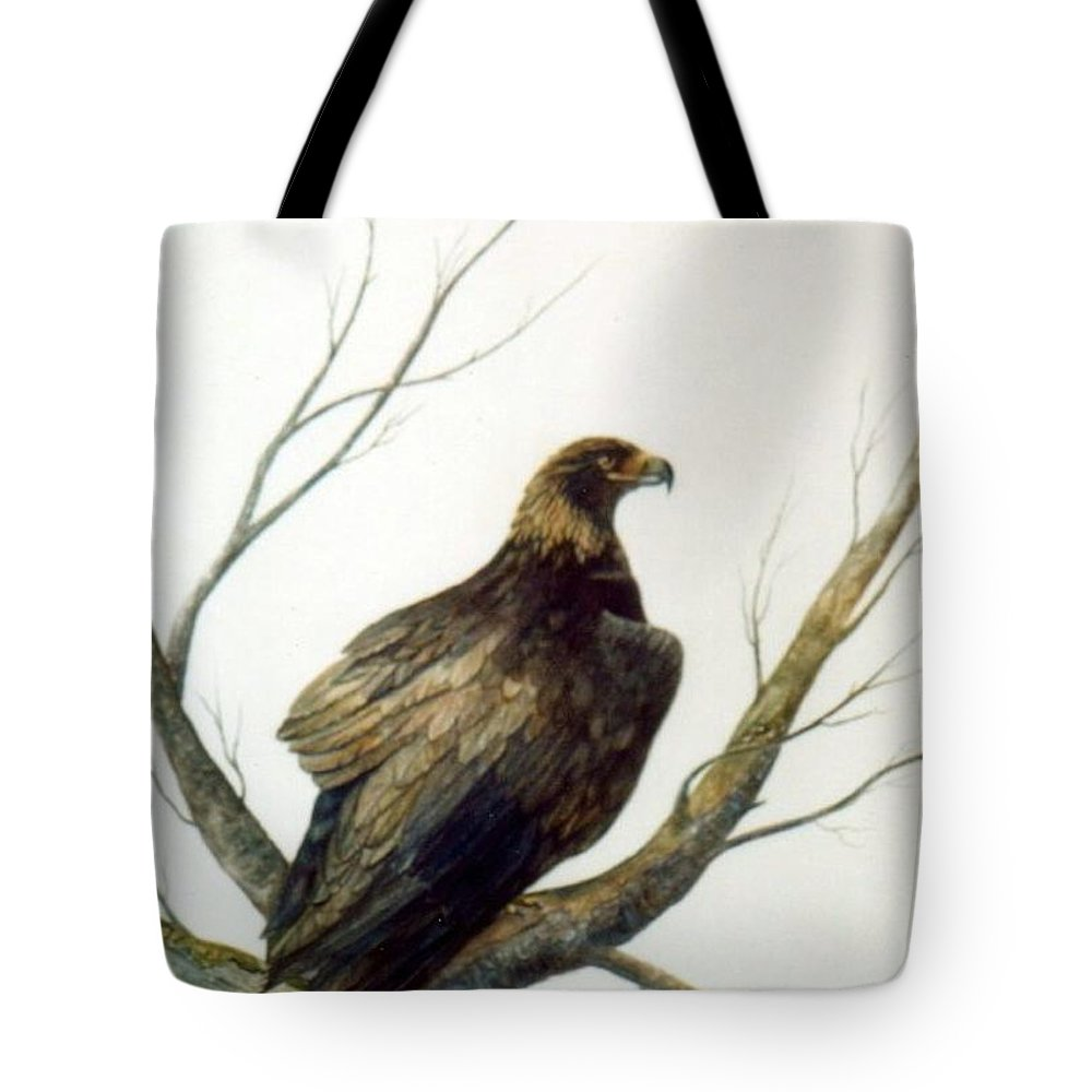 Eagle Tote Bag featuring the painting Golden Eagle by Ben Kiger