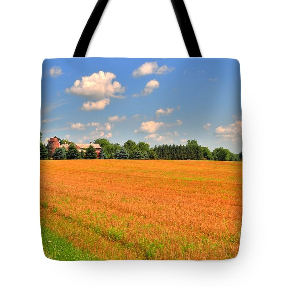 Farm Tote Bag featuring the photograph Golden Field by Kathleen Struckle