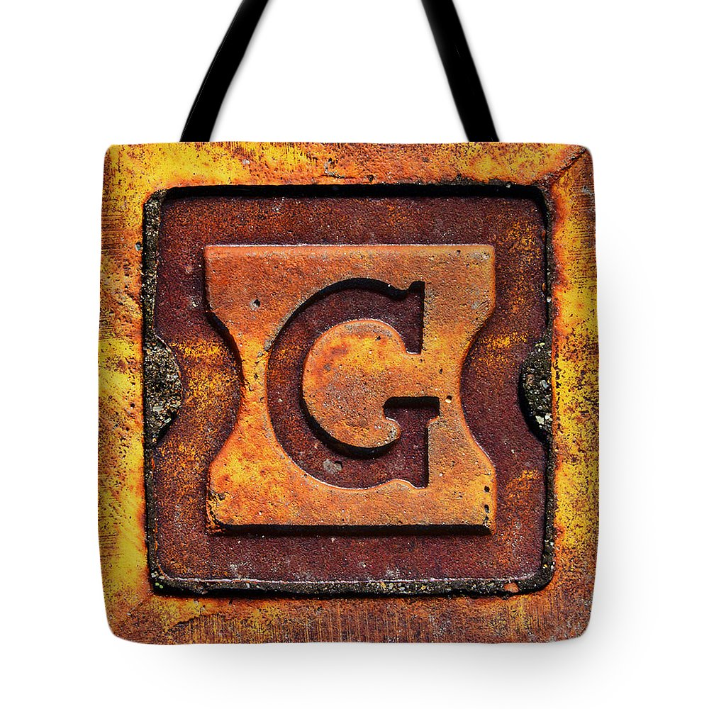 Letter G Tote Bag featuring the photograph Golden G by Kevin Myron