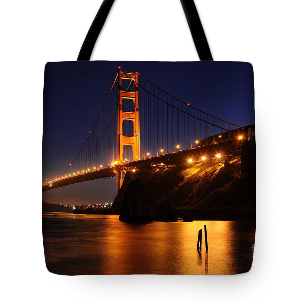 Golden Gate Bridge Tote Bag featuring the photograph Golden Gate Bridge 1 by Vivian Christopher
