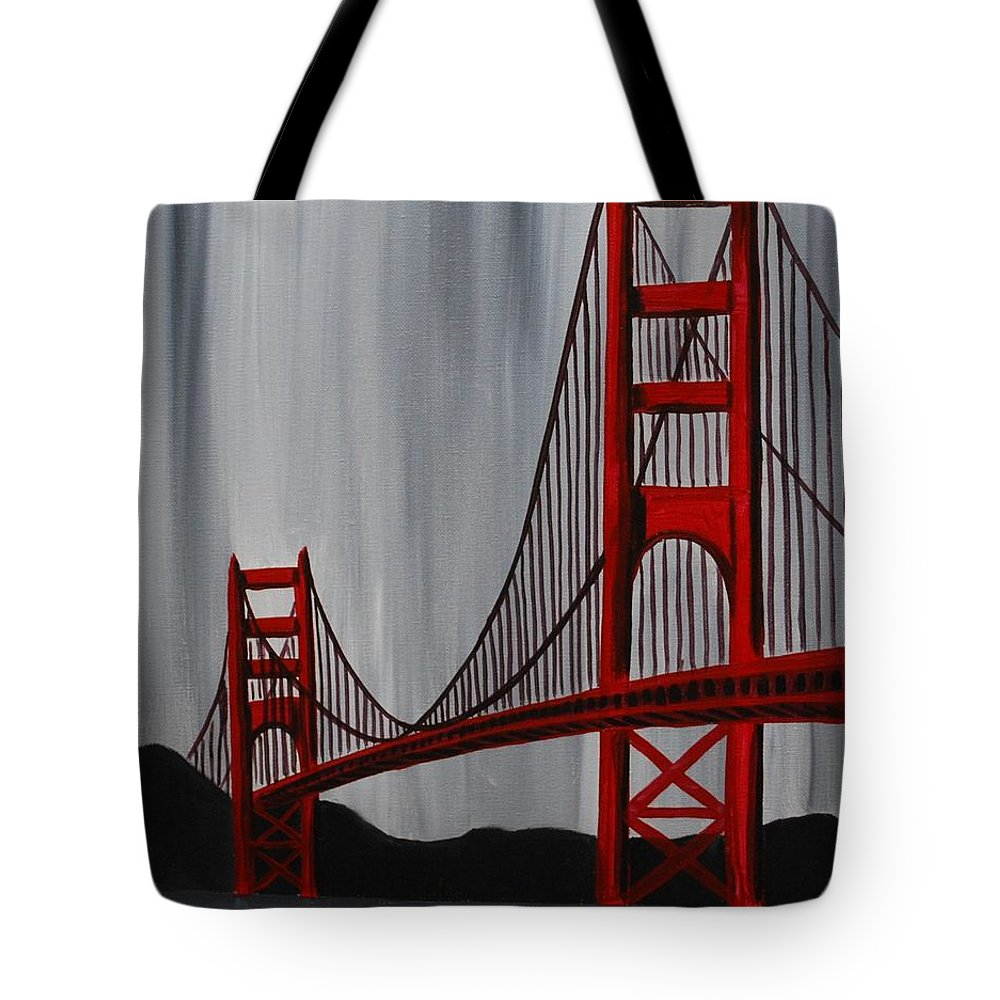 Golden Gate Bridge Tote Bag featuring the painting Golden Gate Bridge by Emily Page