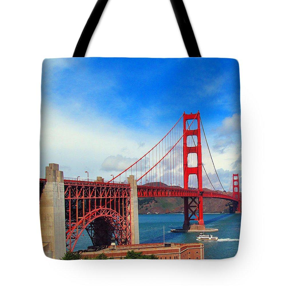 Golden Gate Bridge Tote Bag featuring the photograph Golden Gate Bridge Four by Tina M Wenger