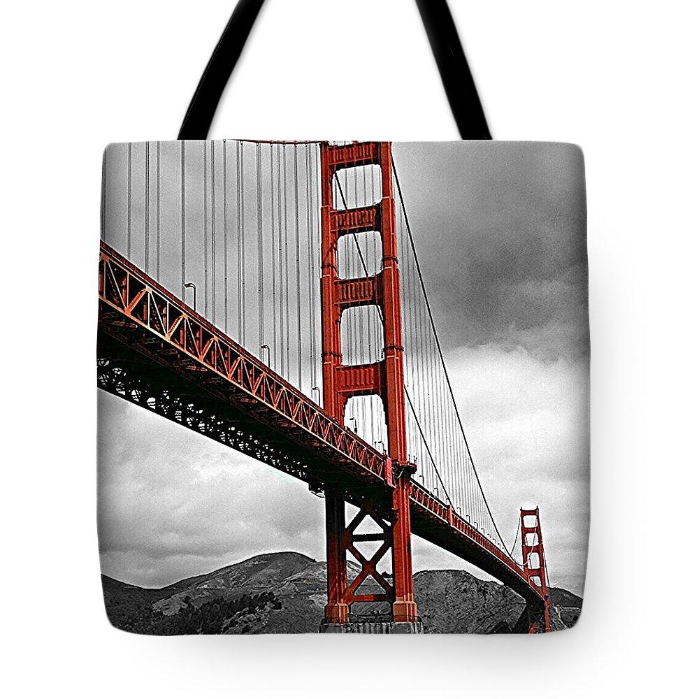 Cityscape Tote Bag featuring the photograph Golden Gate Bridge - San Francisco by Thomas Krappweis