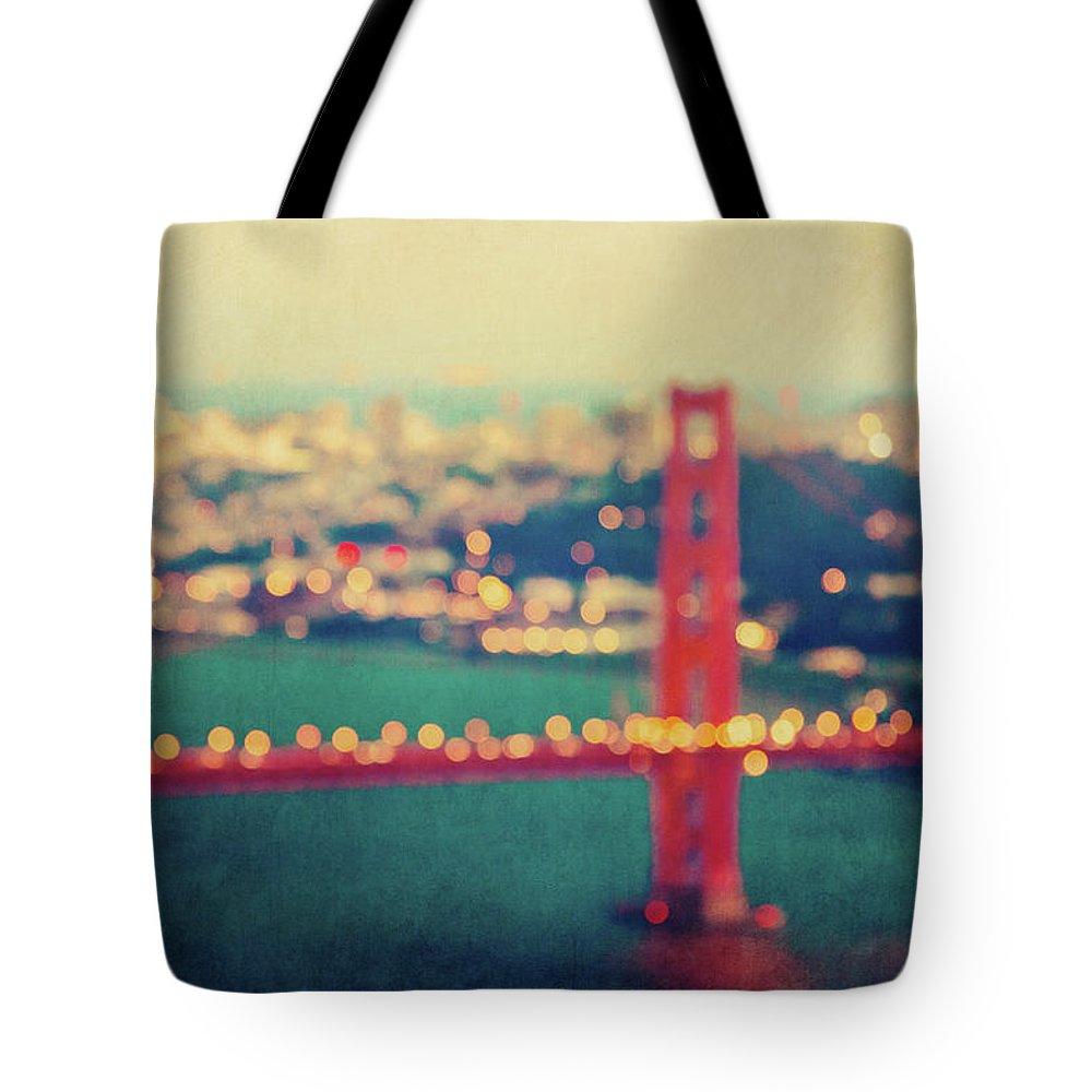 Golden Gate Bridge Tote Bag featuring the photograph Golden Gate Dreams by Melanie Alexandra Price