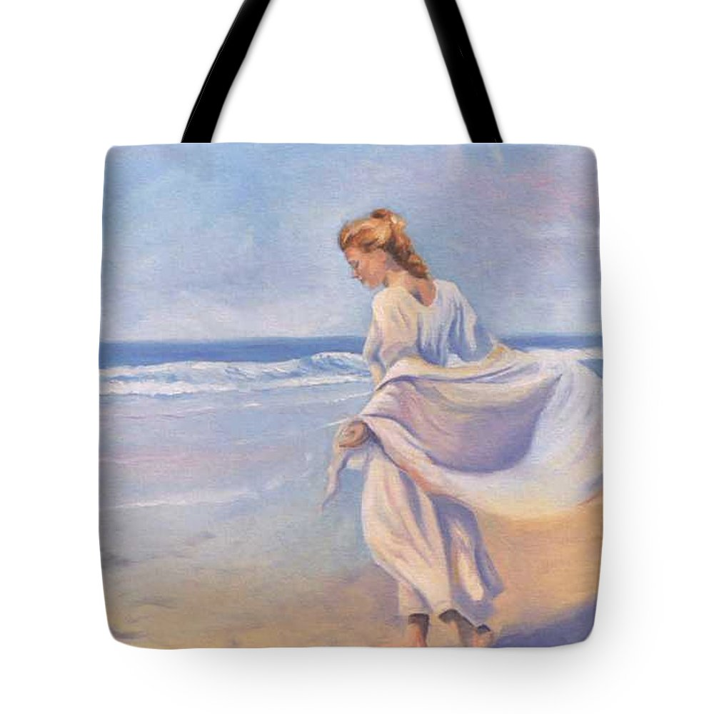 Beach Tote Bag featuring the painting Golden Girls by Jay Johnson