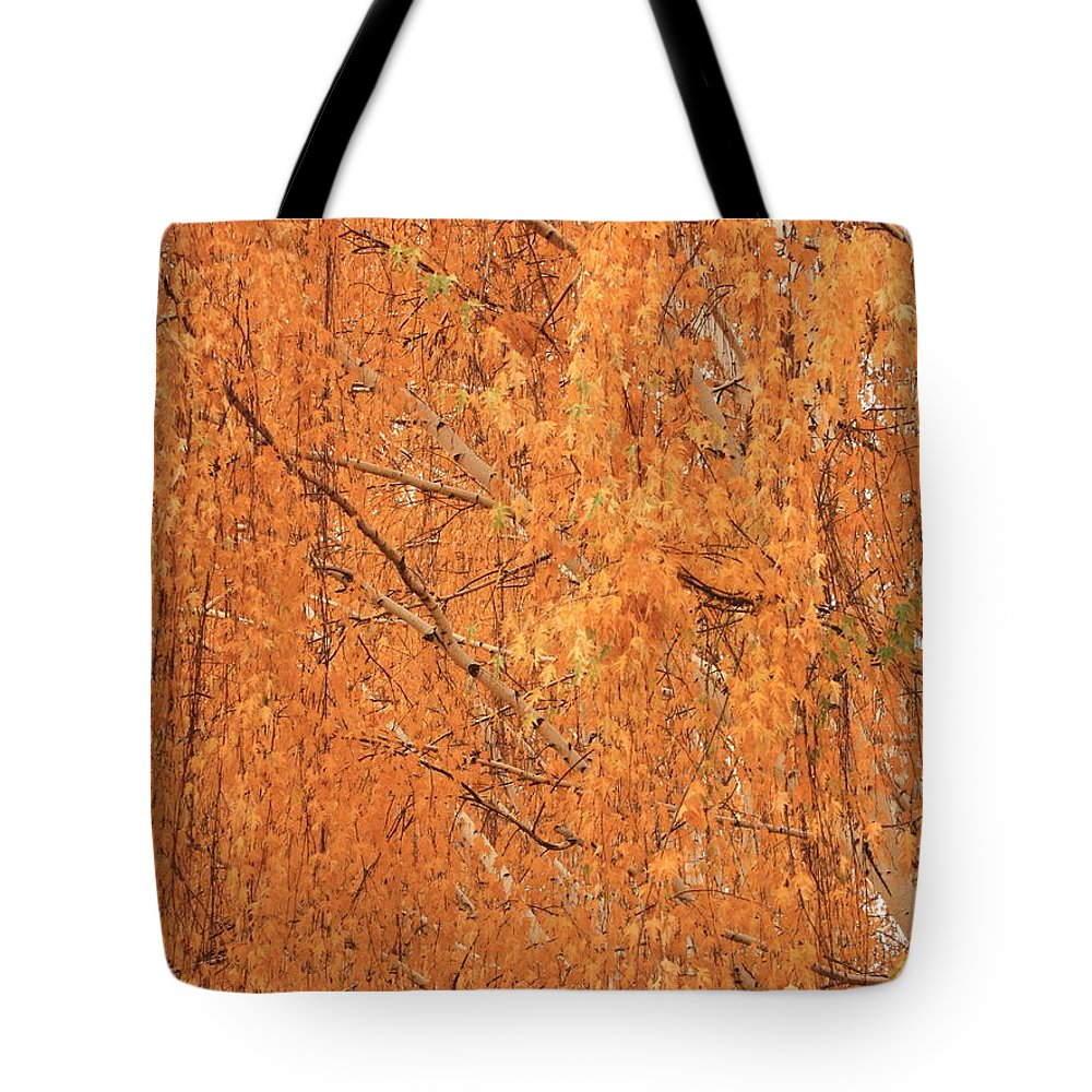 Yellow Tote Bag featuring the photograph Golden Leaves by Carol Groenen