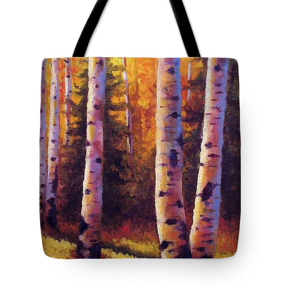 Light Tote Bag featuring the painting Golden Light by David G Paul