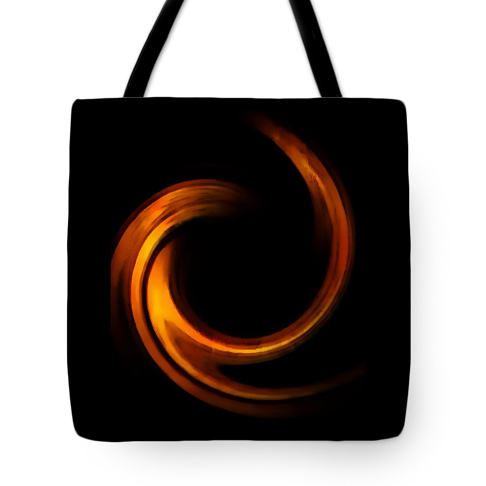 Tote Bag featuring the digital art Golden Light by Toby Horton