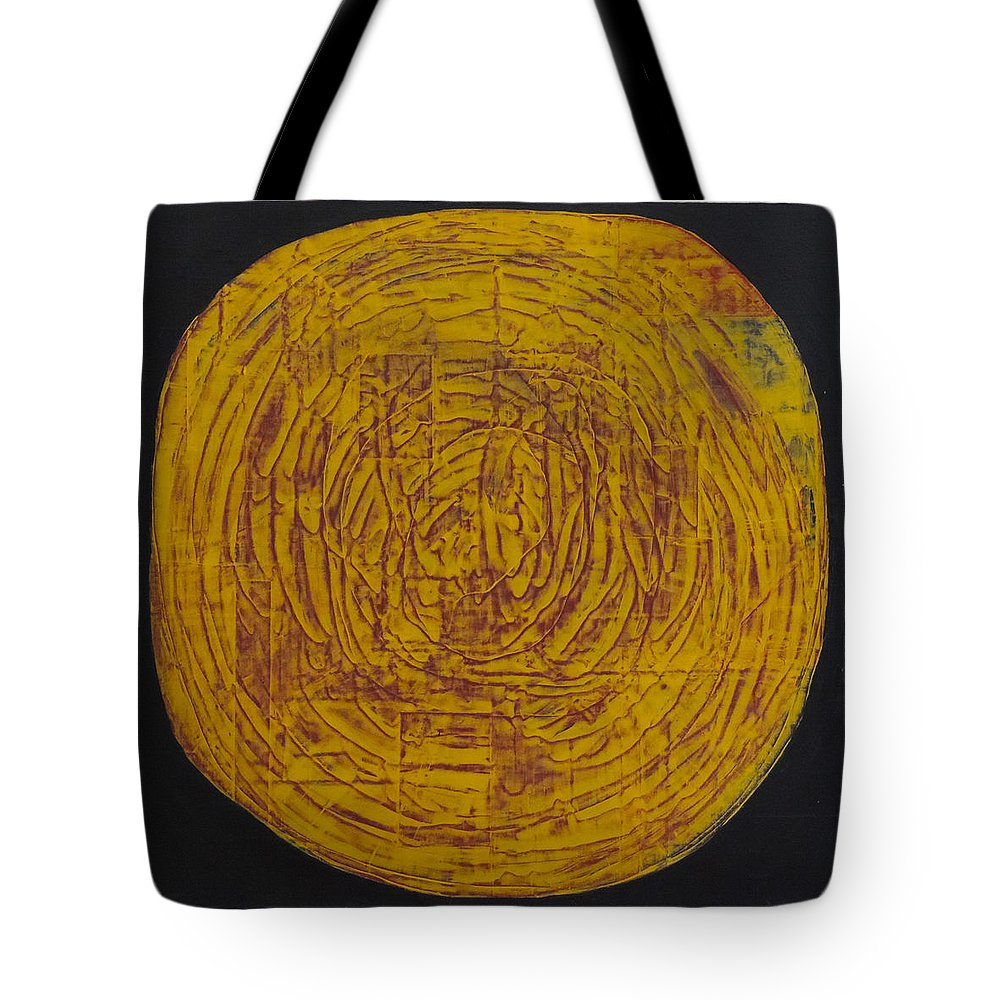 #abstract Tote Bag featuring the painting Golden Mandala by Erin Trunel