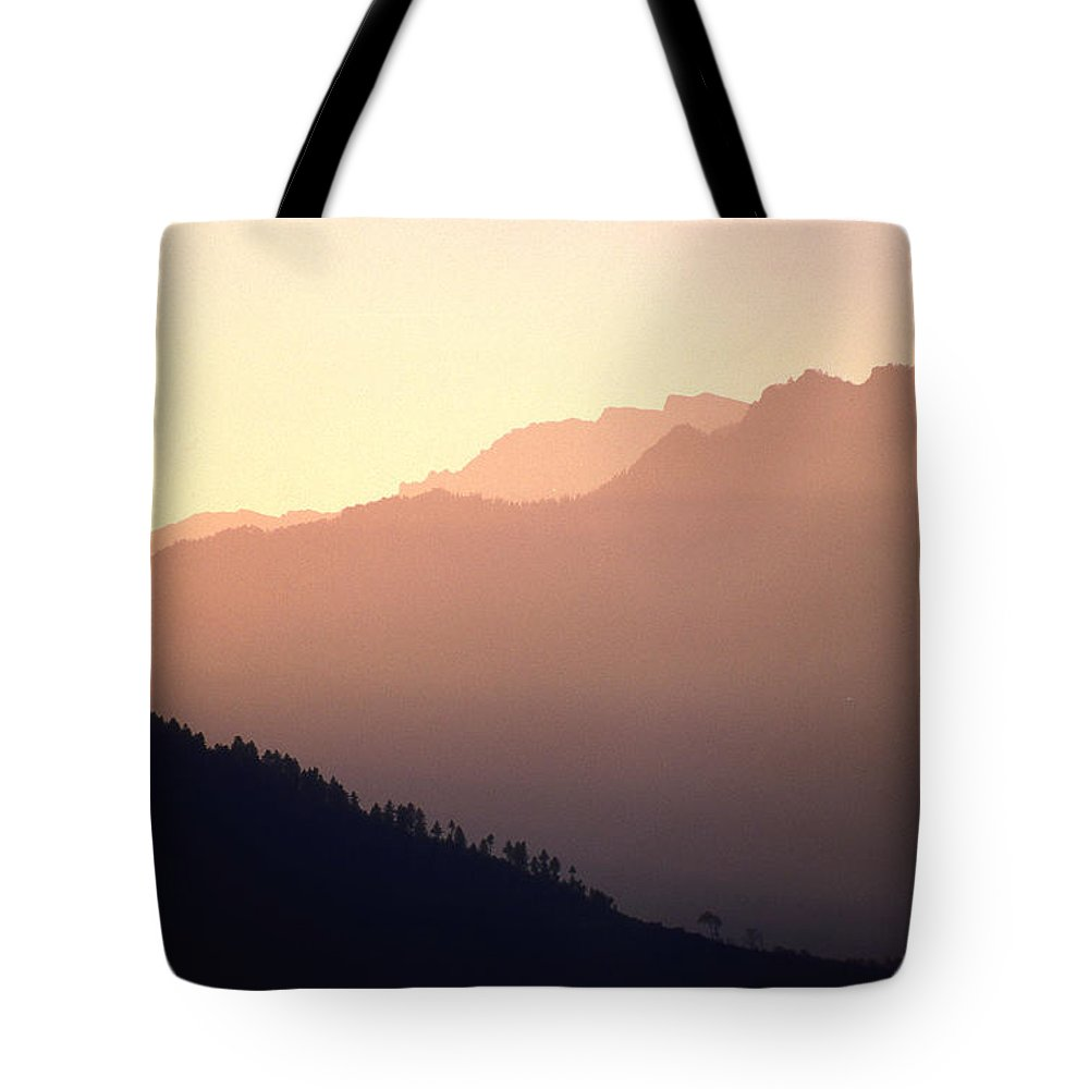 Langtang Tote Bag featuring the photograph Golden Mountains by Patrick Klauss