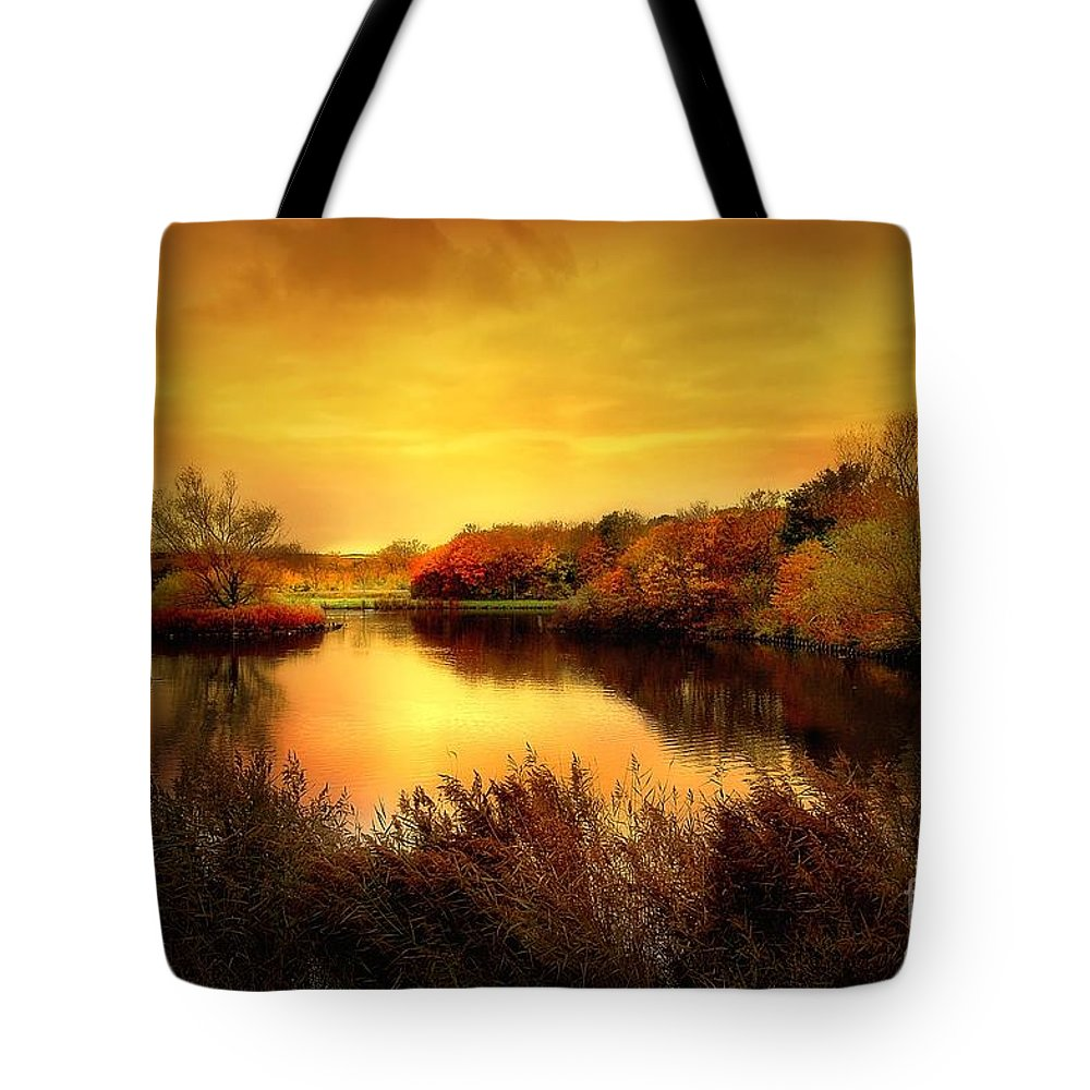 Pond Tote Bag featuring the photograph Golden Pond by Jacky Gerritsen
