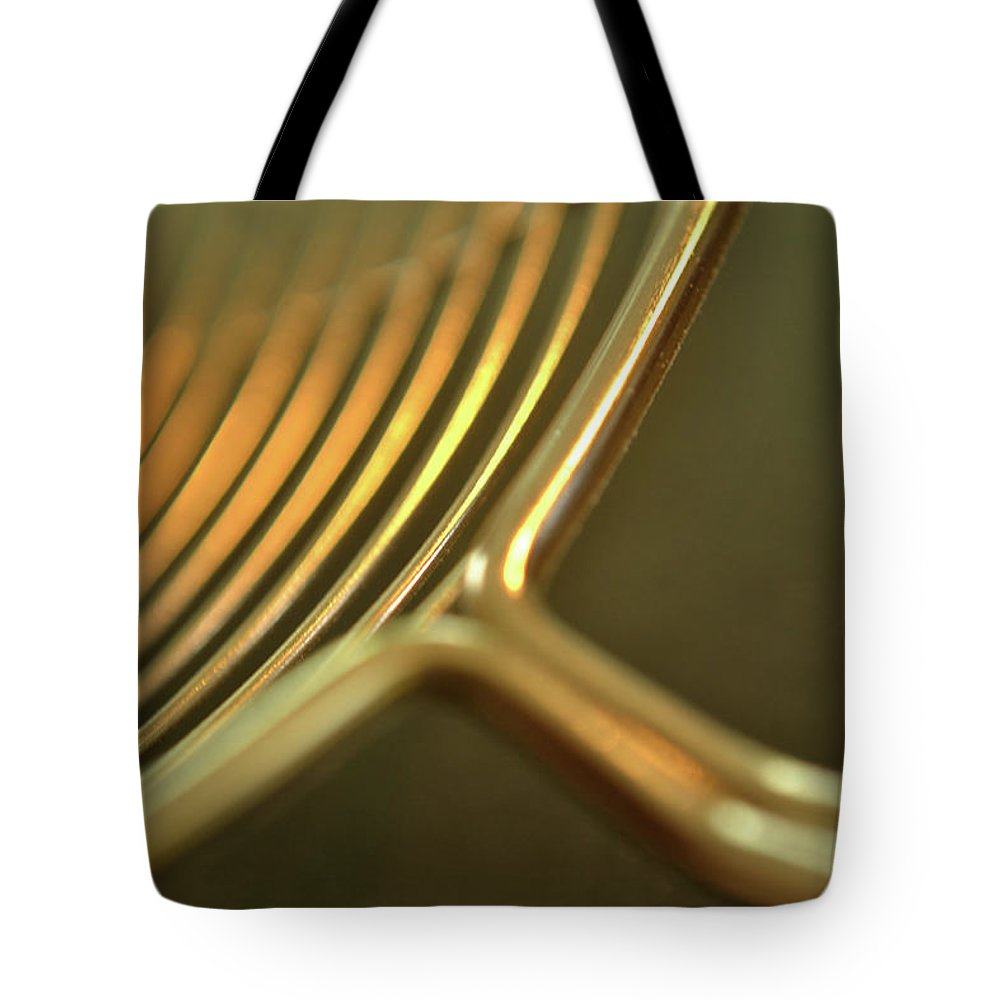 Golden Tote Bag featuring the photograph Golden Rings by Marshall Barth