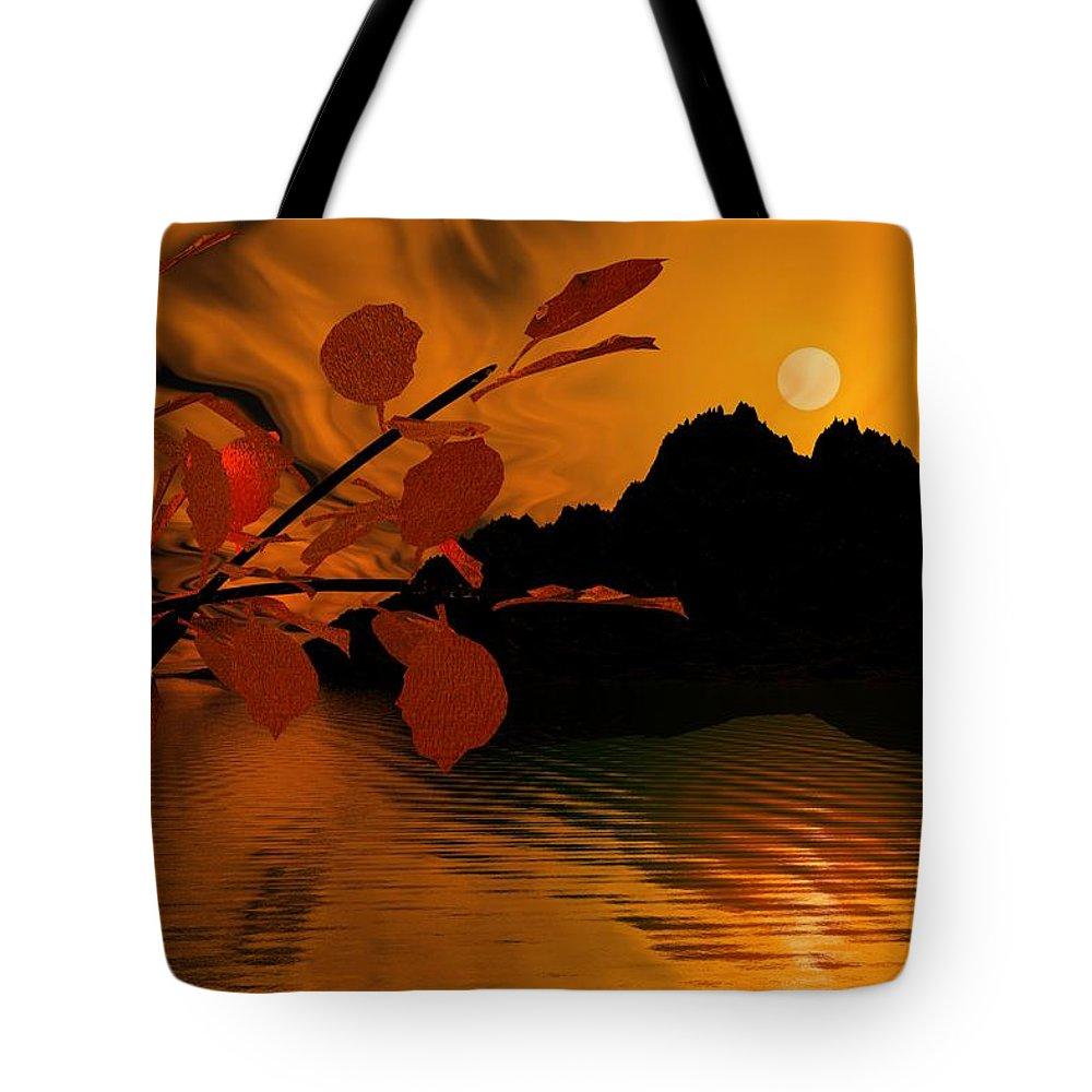 Landscape Tote Bag featuring the digital art Golden Slumber Fills My Dreams. by David Lane
