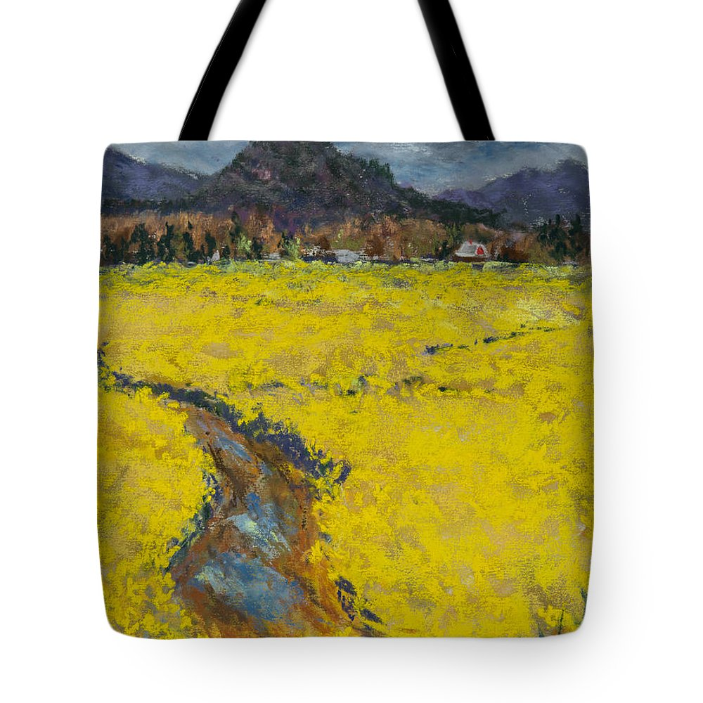 Flowers Tote Bag featuring the painting Golden Spring by Cinda Sue Dow