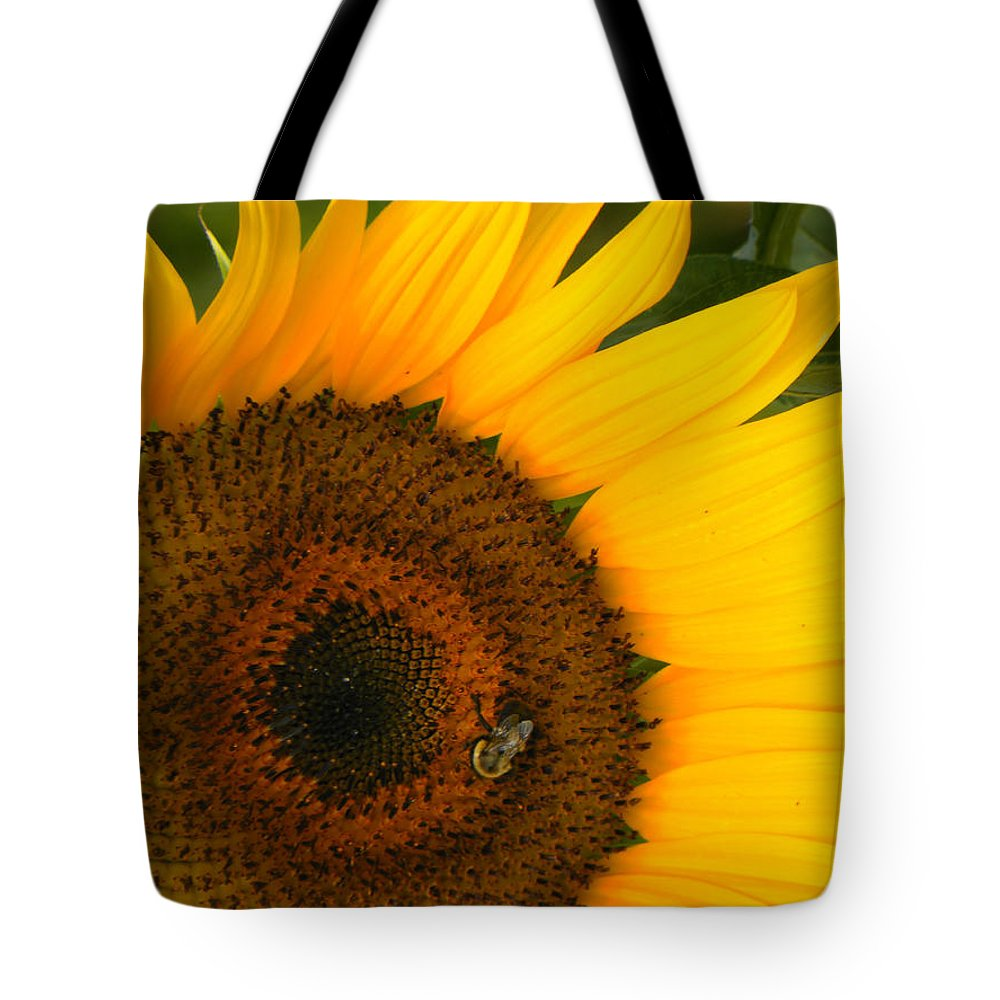 Sunflower Tote Bag featuring the photograph Golden Sunflower by Rosalie Scanlon