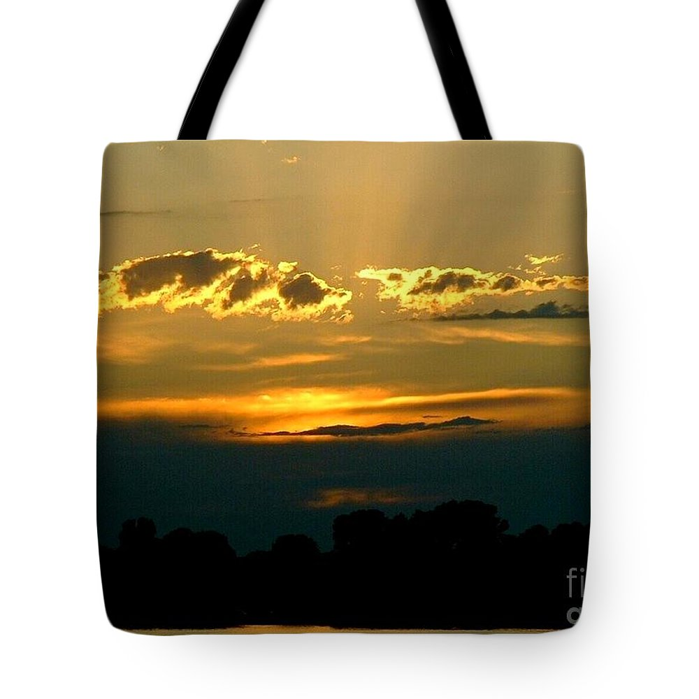 Landscape Tote Bag featuring the photograph Golden Sunset by D Nigon