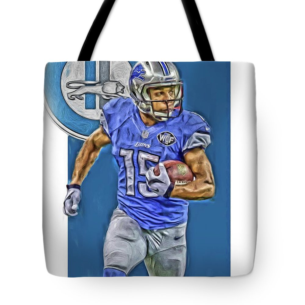 separation shoes 83780 1451b Golden Tate Detroit Lions Oil Art Tote Bag