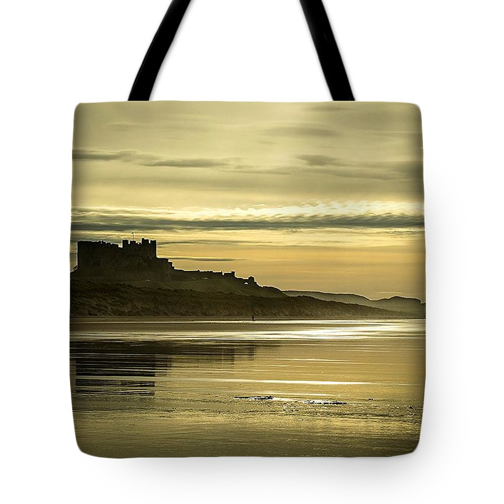 Castle Tote Bag featuring the photograph Golden Times by Nicole Williams