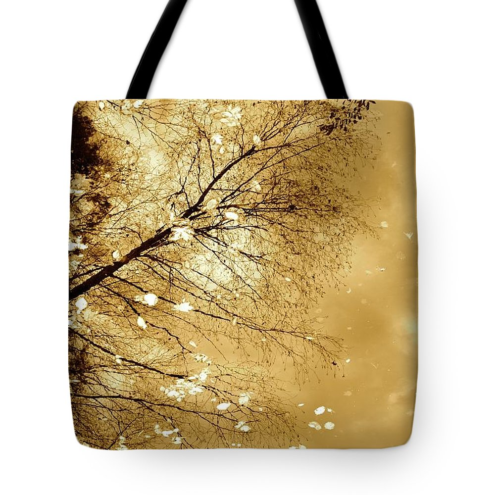 Autumn Tote Bag featuring the photograph Golden Tones by Corinne Rhode