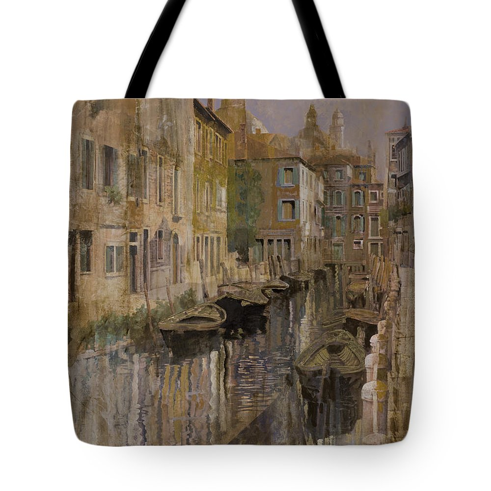 Venice Tote Bag featuring the painting Golden Venice by Guido Borelli