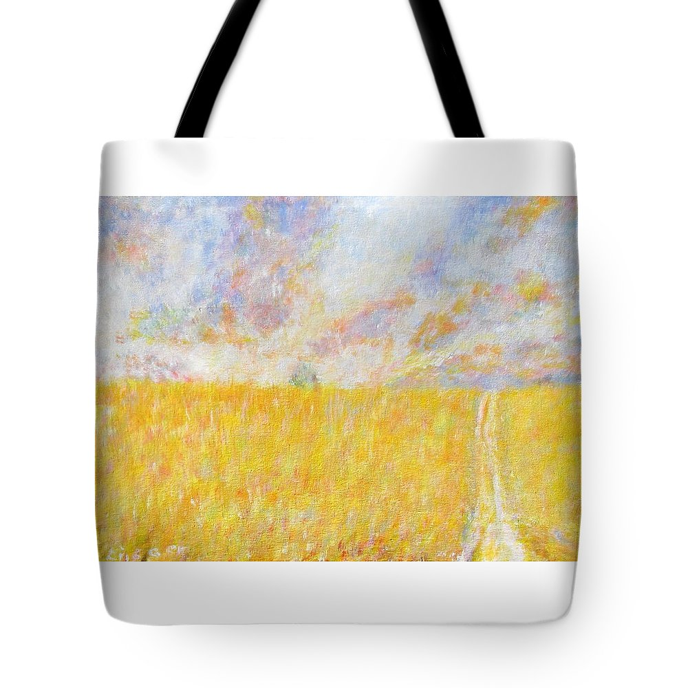 Impressionism Tote Bag featuring the painting Golden Wheat Field by Glenda Crigger