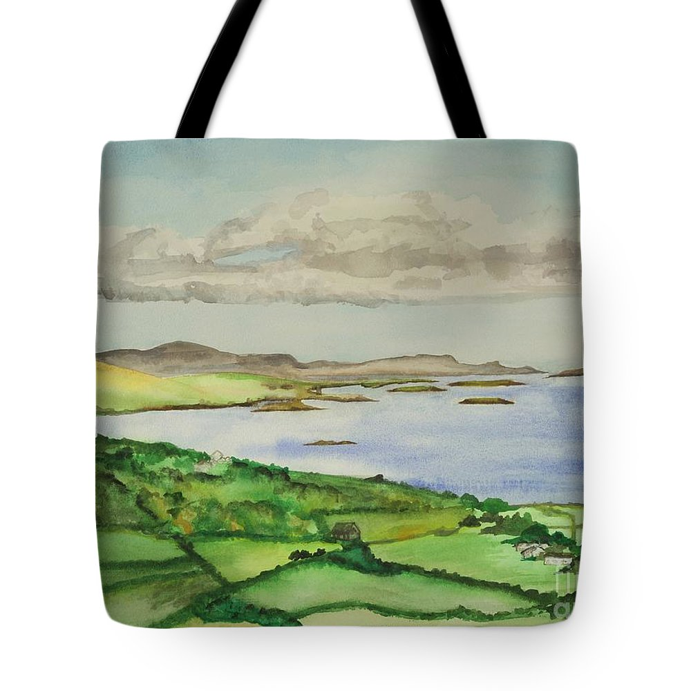Ireland Tote Bag featuring the painting Goleen Vista by Janine Hunn