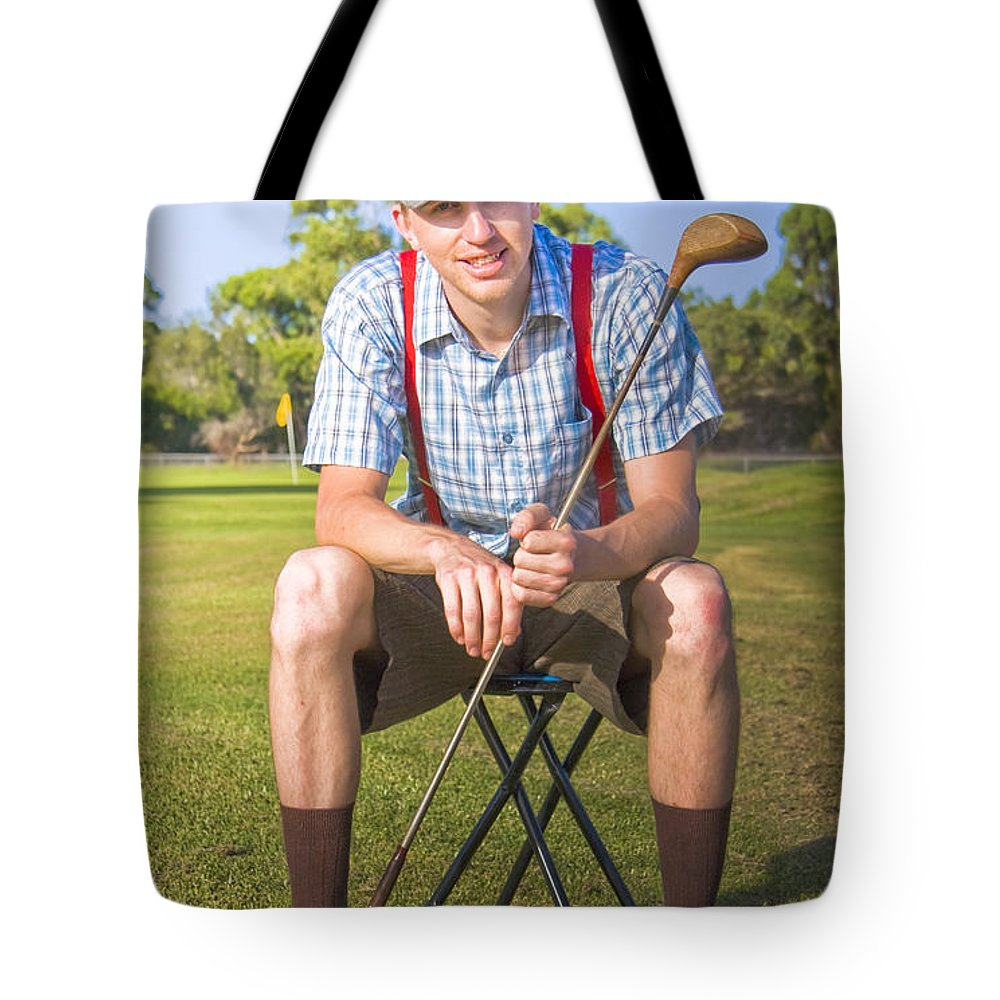 Caucasian Tote Bag featuring the photograph Golf Club Pro by Jorgo Photography - Wall Art Gallery