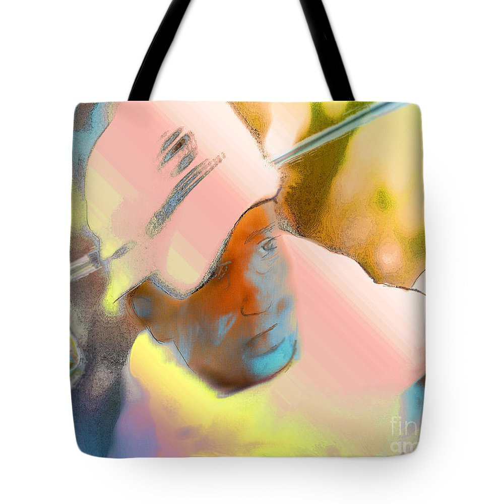 Golf Tote Bag featuring the painting Golf Dream by Miki De Goodaboom