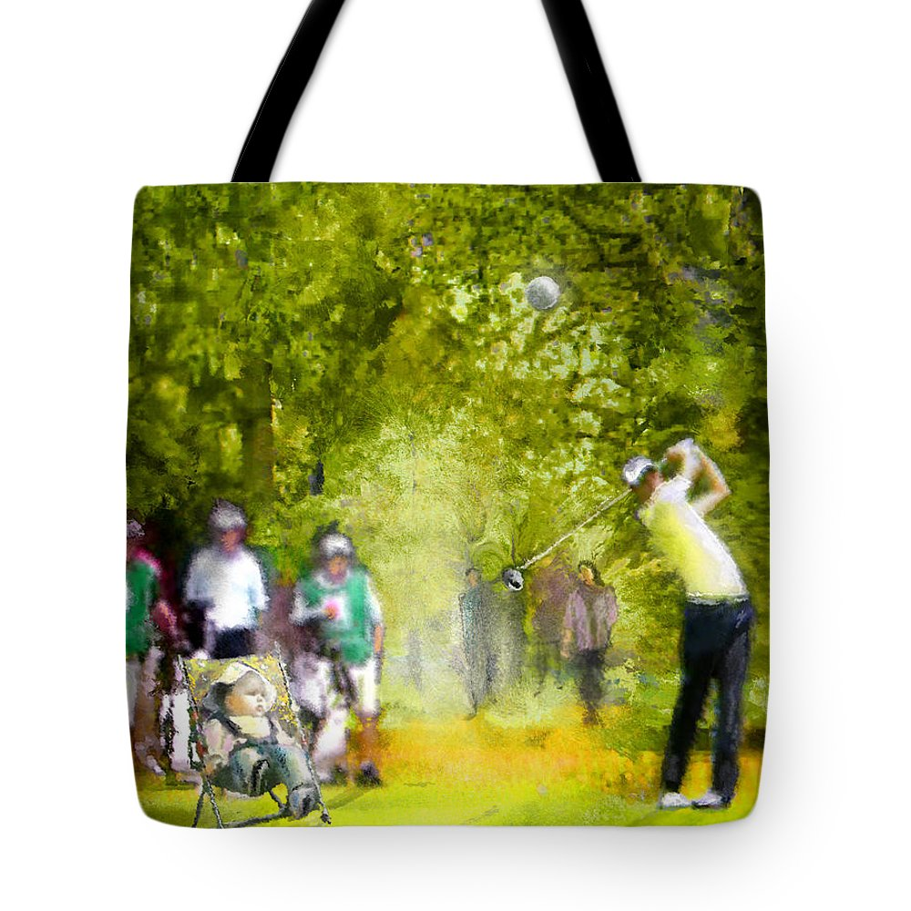 Golf Tote Bag featuring the painting Golf Trophee Hassan II In Royal Golf Dar Es Salam Morocco 03 by Miki De Goodaboom