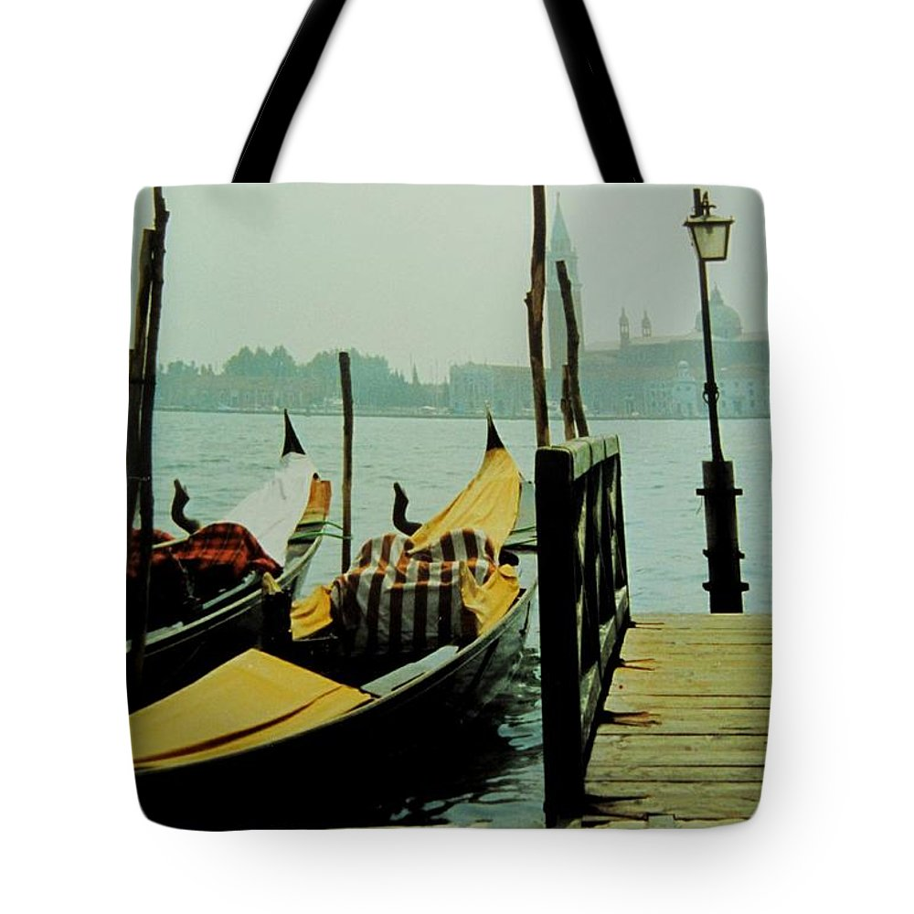 Venice Tote Bag featuring the photograph Gondolas by Ian MacDonald