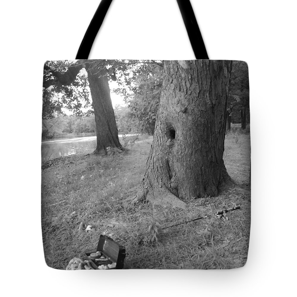 Iowa Tote Bag featuring the photograph Gone Fishin' by Michelle Willoughby