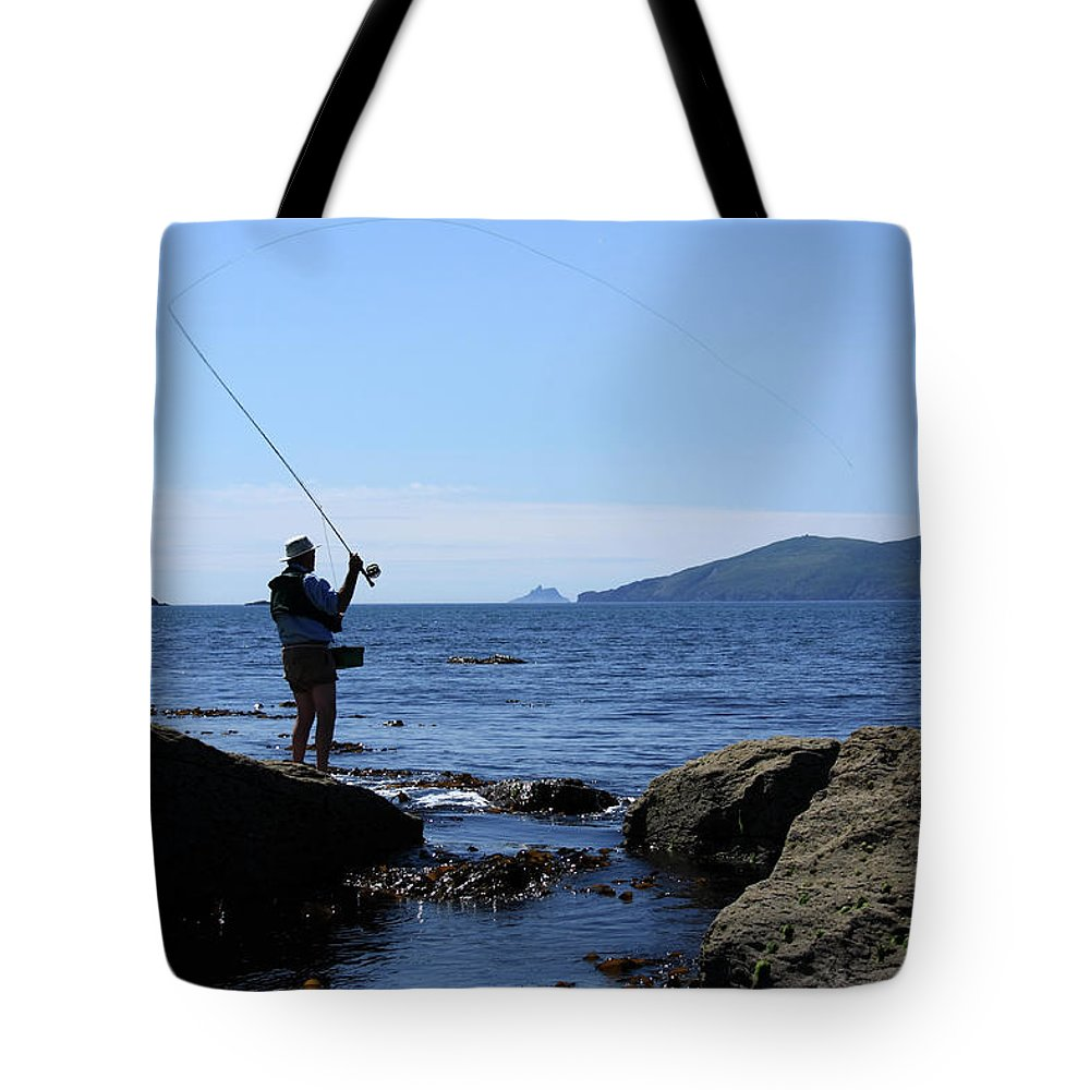 Fishing Tote Bag featuring the photograph Gone Fishing by Aidan Moran
