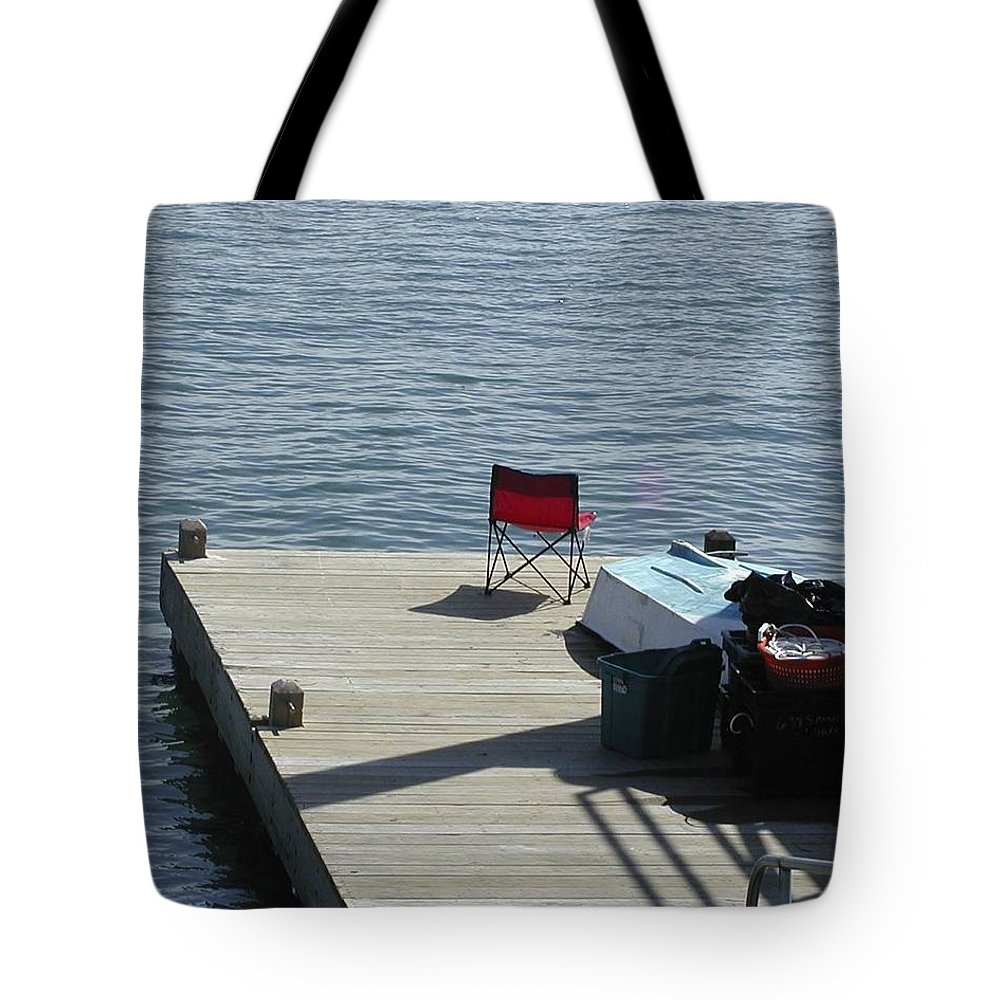 Fishing Tote Bag featuring the photograph Gone Fishing by Faith Harron Boudreau