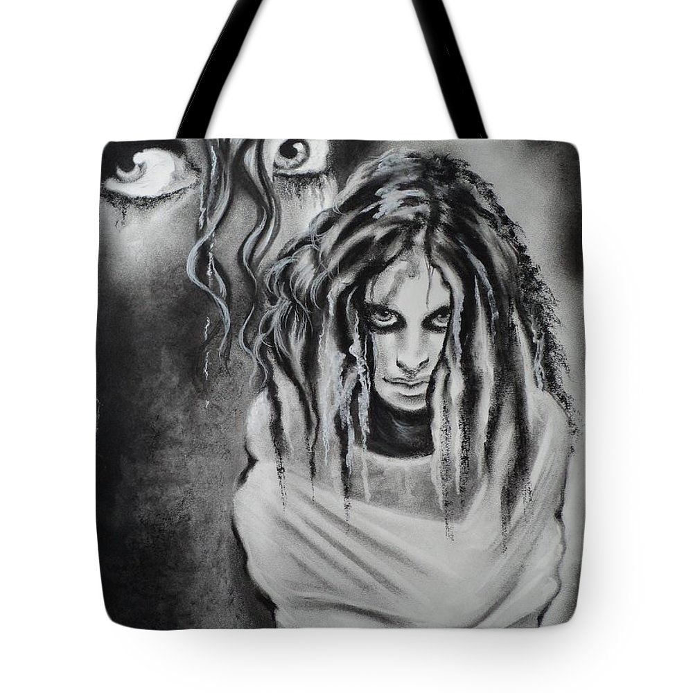 Insanity Tote Bag featuring the drawing Gone For A While by Carla Carson