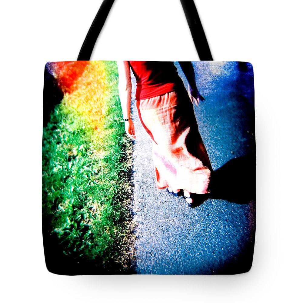 Color Photograph Holga Tote Bag featuring the photograph Gone by Olivier De Rycke