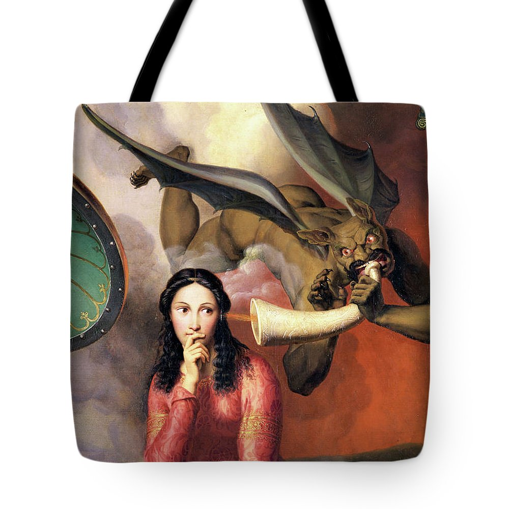 God Tote Bag featuring the painting Good And Evil by Victor Orsel