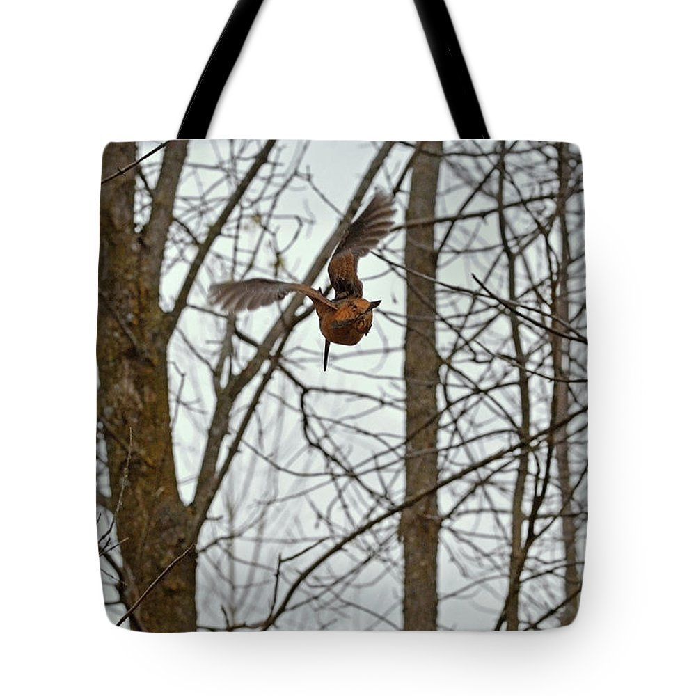 American Woodcock Tote Bag featuring the photograph Good Bye Ma Belle, Good Journey To The South by Asbed Iskedjian