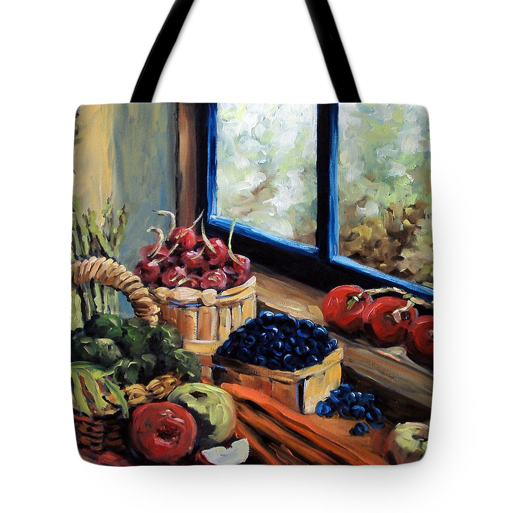 Art; Painting Tote Bag featuring the painting Good Harvest by Richard T Pranke
