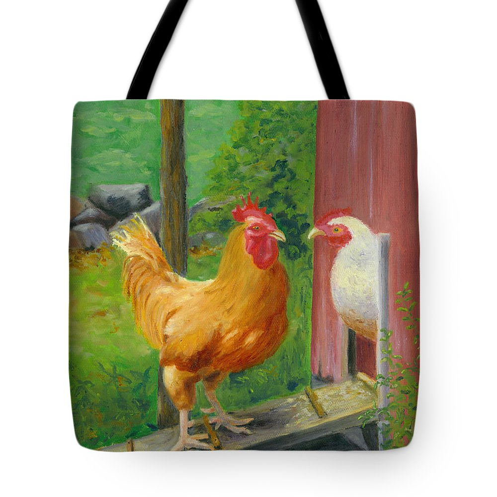 Landscape Tote Bag featuring the painting Good Morning Dudley by Paula Emery