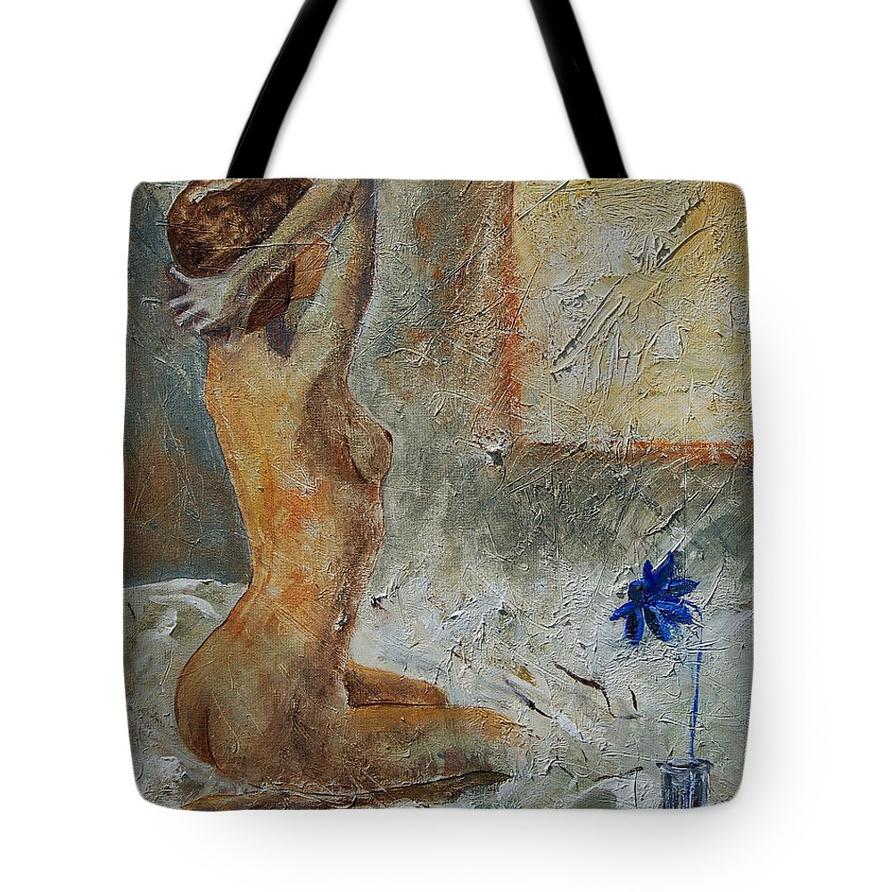Nude Tote Bag featuring the painting Good Morning Sunshine by Pol Ledent
