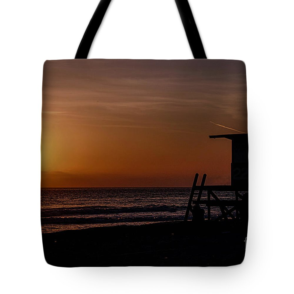 Newport Beach Tote Bag featuring the photograph Good Night Newport Beach by Tommy Anderson