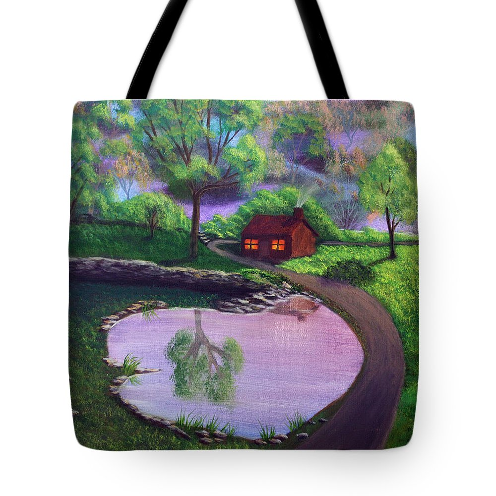 Light Tote Bag featuring the painting Good Spring Morning by Dawn Blair