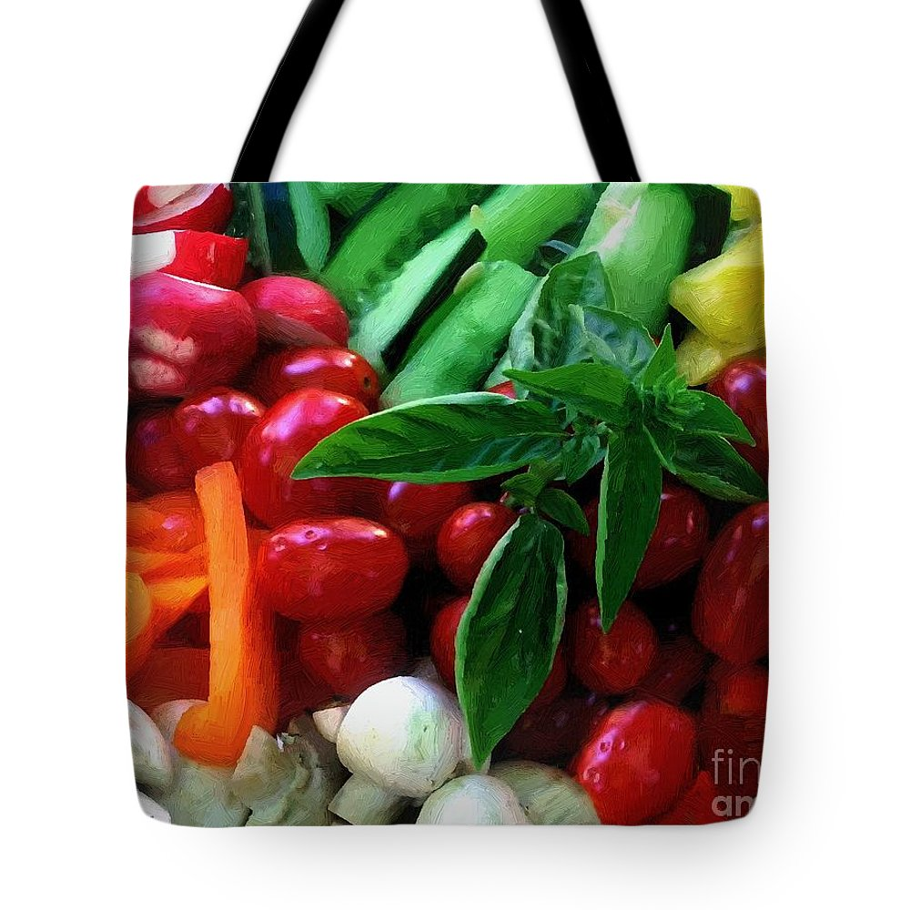 Food Tote Bag featuring the painting Good Stuff by RC DeWinter