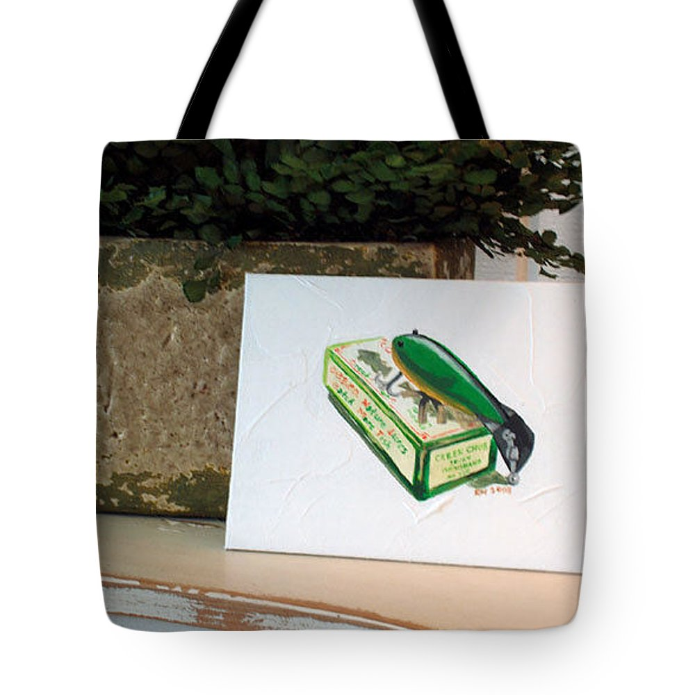 Fishing Tote Bag featuring the painting Good Times by Racquel Morgan