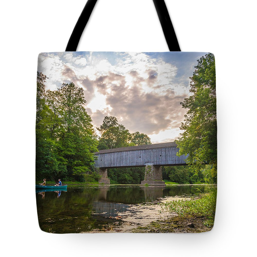 Pennsylvania Tote Bag featuring the photograph Good to Canoe by Kristopher Schoenleber