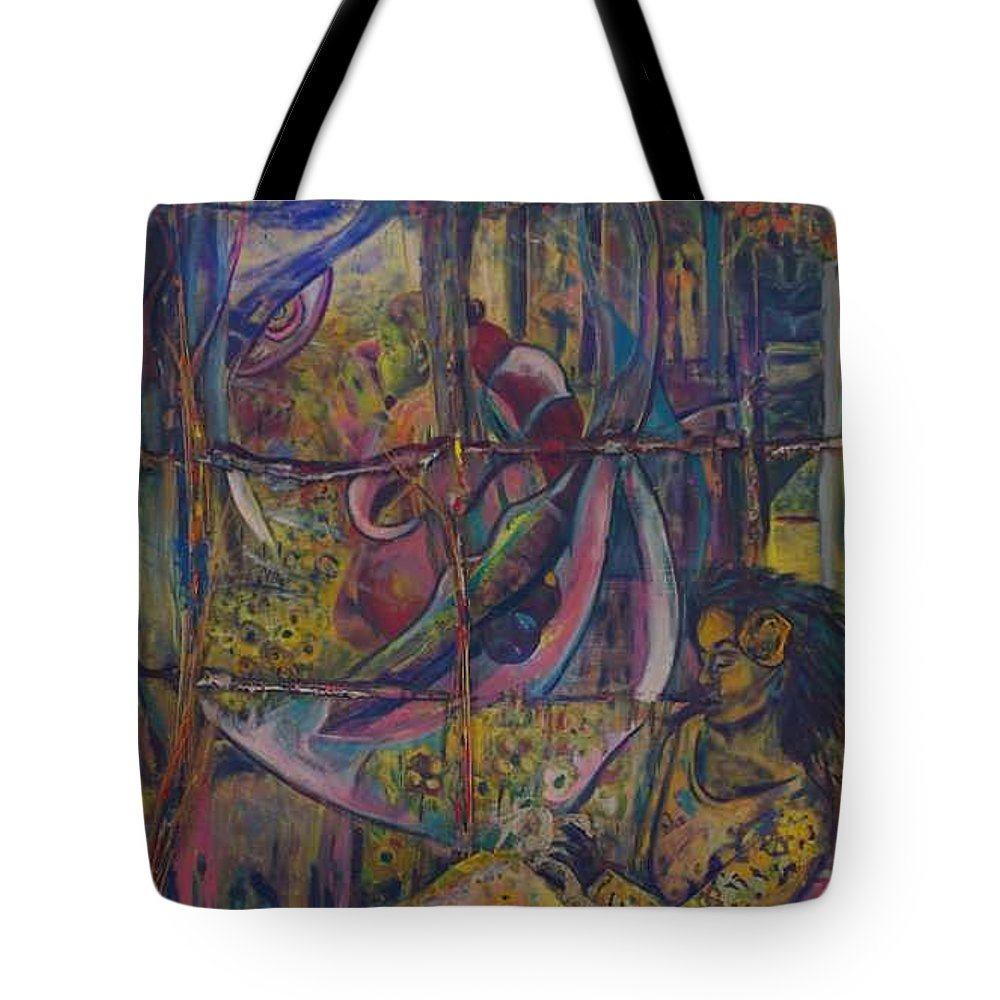Mother Tote Bag featuring the painting Goodbye Sweet Dreams by Peggy Blood